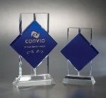 Bold Blue Optical Crystal Awards