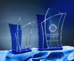 Alchemy Blue Optical Crystal Awards