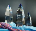 Vetri Blue Optical Crystal Awards