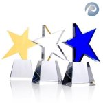Meteor Star Award Blue Optical Crystal Awards