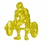 Weightlifter Chenille Pin Body Building Trophy Awards