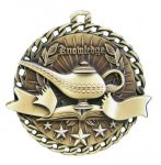 Burst Thru Medal -Lamp of Knowledge Burst Thru Medal Awards