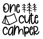 One Cute Camper Camping Designs