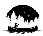 Canoe Silhouette Camping Designs