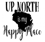 Up North is My Happy Place Camping Designs