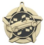 Super Star Medal -Pinewood Derby Car/Automobile Trophy Awards