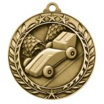 Wreath Award Medallion -Pinewood Derby Car/Automobile Trophy Awards