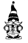 Gnome with Present Christmas Designs