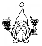 Gnome with Cocktails Christmas Designs