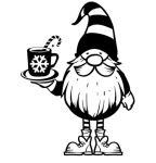 Gnome with Hot Cocoa Christmas Designs