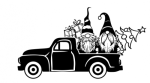 Gnomes in Truck Christmas Designs
