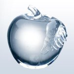 Molten Glass Apple Clear Leaf Clear Glass Awards