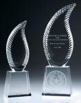 Harmony Flame Crystal Award Clear Optical Crystal Awards