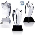 Rising Star Award Clear Optical Crystal Awards