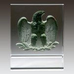 Majestic Eagle (Pewter) Clear Optical Crystal Awards