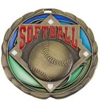 CEM Medal -Softball  Color Epoxy Medal Awards