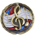 CEM Medal -Music  Color Epoxy Medal Awards