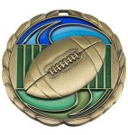 CEM Medal -Football  Color Epoxy Medal Awards