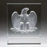 Majestic Eagle (White) Corporate Crystal Awards