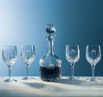 Aristocrat Wine Set, 5-Piece Crystal Barware Stemware