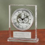 Crystal Clock with Exposed Gears Desk Clocks
