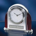 Piano Finish and Chrome Desk Clocks