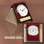 Reversible Clock Thermometer Desk Clocks
