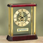 Glass with Exposed Gears Desk Clocks