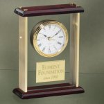 Glass and Brass Desk Clocks