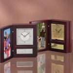 Photo Frame & Clock Desk Clocks
