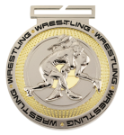 Dual Plated Medallion -Wrestling Dual Plated Medal Awards