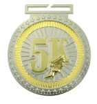 Dual Plated Medallion -5K Dual Plated Medal Awards