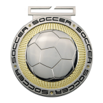 Dual Plated Medallion -Soccer Dual Plated Medal Awards