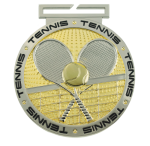 Dual Plated Medallion -Tennis Dual Plated Medal Awards