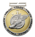 Dual Plated Medallion -Track Dual Plated Medal Awards