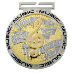 Dual Plated Medallion -Music Dual Plated Medal Awards