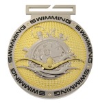 Dual Plated Medallion -Swimming Dual Plated Medal Awards