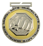 Dual Plated Medallion -MMA Dual Plated Medal Awards