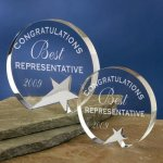 Freestanding Crystal Executive Crystal Awards