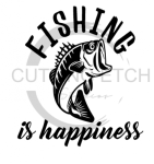 Fishing is Happiness Fishing and Hunting Designs