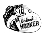 Weekend Hooker Fishing and Hunting Designs
