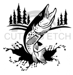 Musky Fish Fishing and Hunting Designs