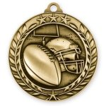 Wreath Award Medallion -Football Football Trophy Awards