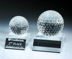 Desk Top Golf Ball Golf Glass and Crystal Awards