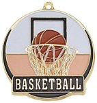 High Tech Medal -Basketball  High Tech Medal Awards