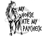 My Horse Ate My Paycheck Horse Designs