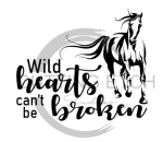 Wild Hearts Can't be Broken Horse Designs