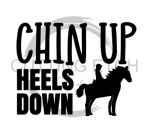 Chin Up Heels Down Horse Designs