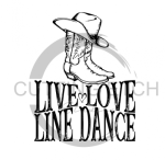 Live Love Line Dance  Horse Designs