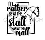 I'd Rather be at the Stall Horse Designs